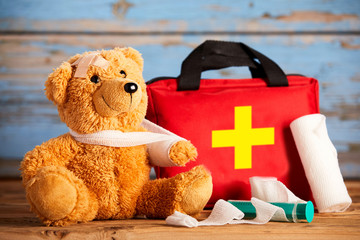 Paediatric healthcare concept with a teddy bear