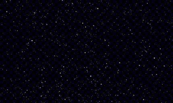 Night starry sky with stars and planets