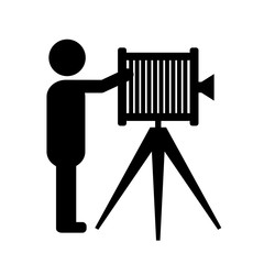 Photographer vector icon