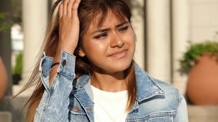 Anxious Girl Teenager