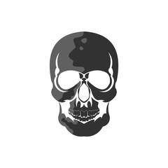 Skull Bone Emblem Vector Template Design