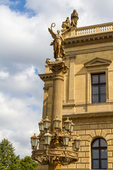 Concert and gallery building Rudolfinum in Prague, Czech Republic