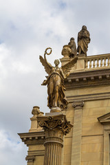Concert and gallery building Rudolfinum in Prague, Czech Republic.