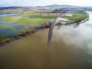 Donauhochwasser bei Riedlingen am 24. Januar 2018