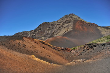 Extinct volcanoes in the Halekala National Park on the Hawaiian island of Maui