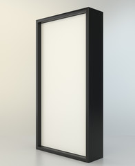 Blank advertising stand. Interactive information kiosk 3d rendering.