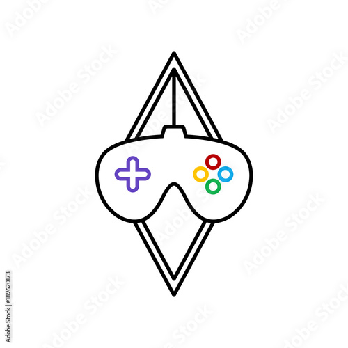 Video Game Console Joystick Theme Logo Template Stock Image And