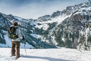 Schneeschuhwandern im Diemtigtal, Berner Oberland