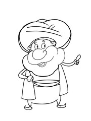 nasreddin hodja character illustration  drawing