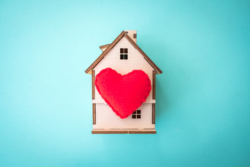 a house of love, Valentine's Day concept.
