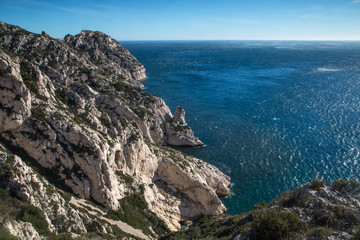 Calanques de Marseille , Mer Méditerranée , France, calanque de cortiou