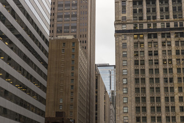 Highrise buildings in an urban setting