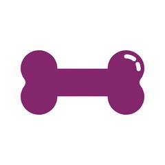 KNOCHEN - Icon Symbol Piktogramm Bildmarke grafisches Element - Web Druck - Vektor - violett auf weißen Hintergrund
