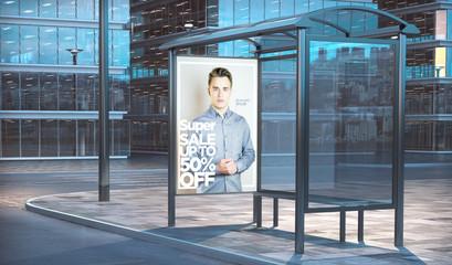 bus stop 3d rendering fashion sale