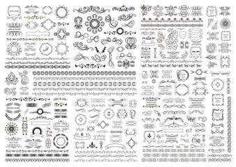 Big set of vector graphic elements for design
