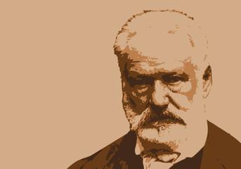 Victor Hugo - écrivain - portrait - personnage historique - littérature - panthéon - personnage célèbre