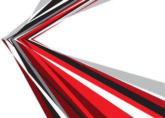 Abstract red black gray arrow on white blank space design modern futuristic background vector illustration.