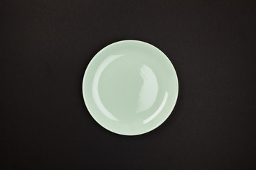 Plate. Colour. View from above. Isolated. For your design.