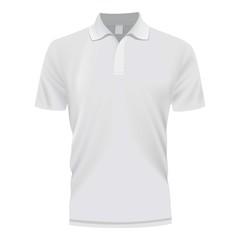 White polo shirt mockup, realistic style