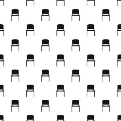 Black office chair pattern vector