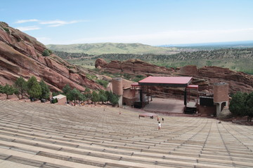 The stage of Red rocks amphitheatre, Denver, Colorado.