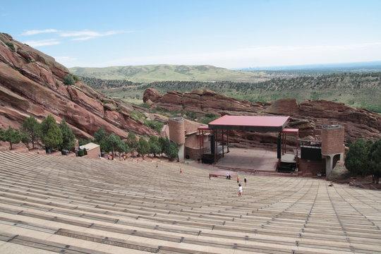 The stage of Red rocks amphitheatre, Denver, Colorado.