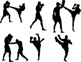 Kickbox silhouette