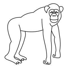 Marmoset monkey icon, outline style