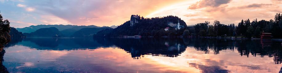 Panorama Shot Of Lake Bled