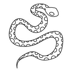 Python snake icon, outline style