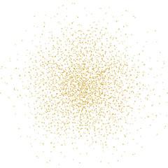 Konfettiexplosion - gold