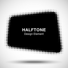 Wall Mural - Abstract Halftone Design Element. Vector illustration.