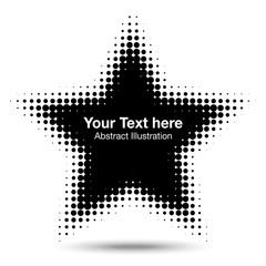 Wall Mural - Abstract Star Halftone Design Element