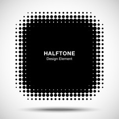 Wall Mural - Black Abstract Halftone Design Element. Vector illustration.