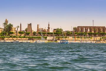 Karnak temple at Nile river in Luxor, Egypt
