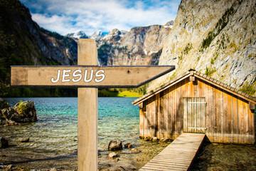 Schild 300 - Jesus