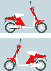 retro motor scooter