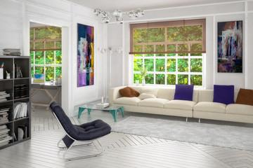Projekt einer Wohnzimmereinrichtung