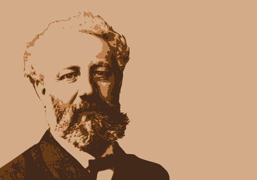 Jules Verne - écrivain - portrait - personnage historique - littérature - personnage célèbre
