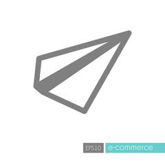 Paper plane, message symbol flat vector icon