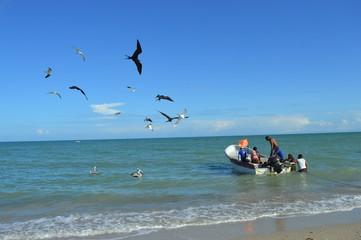 Acompañantes de pesca. El Pájaro, La Guajira- Colombia.