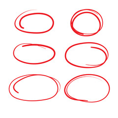 Red Circle Grading Marks with Swoosh Feel - Marking up Papers