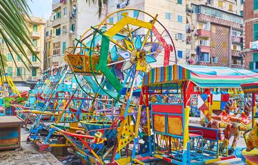 Retro children's luna park, Alexandria, Egypt