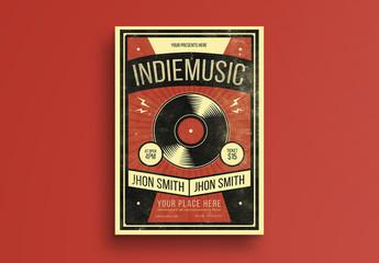 Grunge Texture Indie Music Flyer Layout 1
