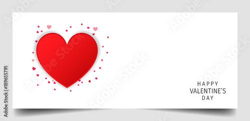 Creative Concept Happy Valentines Day Valentine Heart Happy