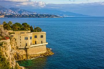 Monaco seafront, Monaco and Monte Carlo principality, France