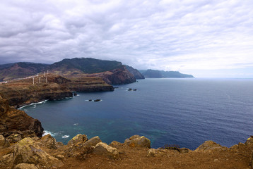Foto op Canvas Arctica Madeira island mountain seascape, Portugal.