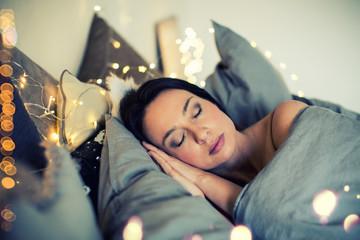 Urlaub junge schöne Frau schläft