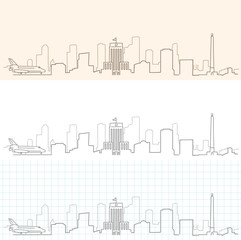 Houston Hand Drawn Skyline