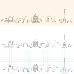 Indianapolis Hand Drawn Skyline